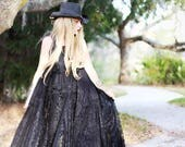 XL Custom Bohemian maxi dress cotton lace boho dress halter gypsy dress peasant dress festival dress long dress hippie dress free spirit