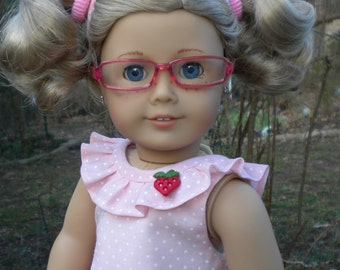 """Pink skirt set for American Girl or other 18"""" dolls"""
