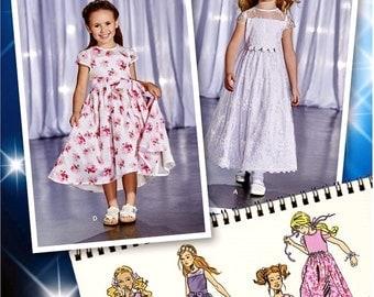 Girls' Confirmation Dress Pattern, Flower Girl Dress Pattern, Girls' High Low Dress Pattern, Sz 3 to 8, Simplicity Sewing Pattern 1173