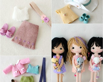 GIFT of the DAY - Complete set of pdf Patterns for Pocket Poppet Doll and Outfits