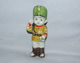 Soldier Bisque Doll /  Salute / frozen charlotte / penny doll / Vintage Dolls