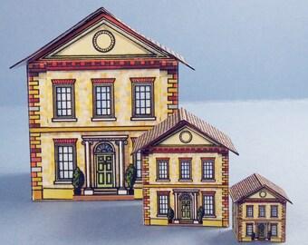 Brick Dollhouse For Your Dollhouse Kit 1:12 Scale