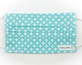 Surgical Mask - Flu Mask - Surgical Face Mask - Face Mask - Cotton Face Mask - Cotton Surgical Mask - Womens Surgical Mask - Turquoise Print