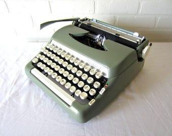 Green Smith-Corona Sterling Typewriter - Esmeralda - Professionally Serviced