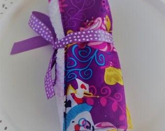 Custom Travel Toothbrush Roll Alice in Wonderland Print