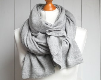 Wool scarf, grey scarf,  WINTER fashion, gift ideas, winter fashion accessories, gift ideas, wool scarf