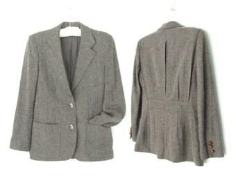 80s Blazer * Wool Jacket * 1980s Equestrian Coat * Small