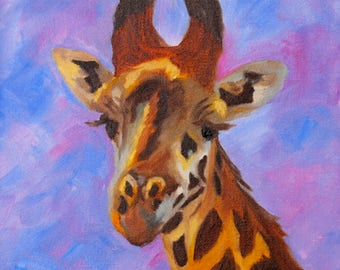 NOTECARDS - from Original Oil Painting of Giraffe by Rebecca Croft