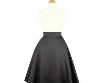 Gray Full Circle Skirt