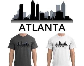 Atlanta t shirt etsy for Atlanta custom t shirts