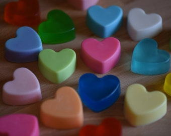 20 Heart Soaps, Heart, Glycerin Soap, Soap, Party Favor Soap, Heart Soap, Wedding Favor Soap, Wedding Shower Soap, Bath and Body, Guest Soap