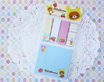 Rilakkuma Memo Pad - Sticky Note - Post It - Bookmarker - Planner - Diary Planner - Bookmark - 1 pc - Ready to ship