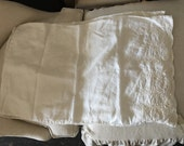 Lovely pair of embroidered linen pillowcases