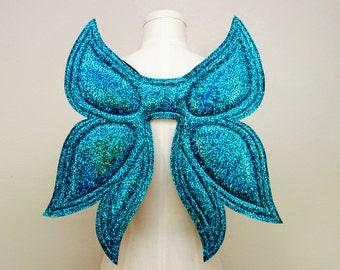 Petite Fairy Wings, Teal Blue Wings, costume wings, Halloween Costume, cosplay wings, cosplay fairy, butterfly wings