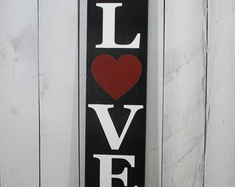 Valentine's Day Sign/Love/Shelf Sitter/Mantel Fireplace Sign/Photo Prop/Farmhouse Style/Rustic/Wood Sign