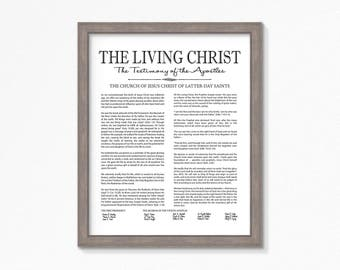 The Living Christ-Printable-LDS-Multiple Size Choices Available-Black Text-Digital File-LDS poster printables-LDS