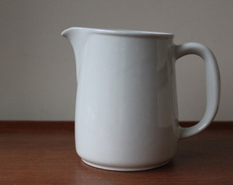 Vintage Arabia Finland White FL Pitcher / Jug by Kaj Franck, Scandinavian Modern Kitchen Ware