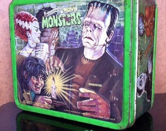 Vintage Frankenstein 1979 tin lunchbox!