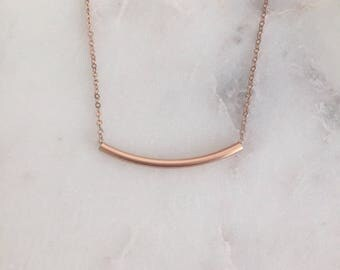 Rose Gold Bar Necklace