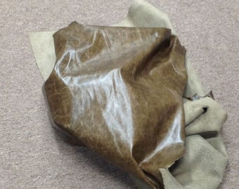 834AP.  Parsley Distressed Leather Cowhide Partial