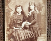 Cabinet Card - Sisters Two, w/ Long Hair