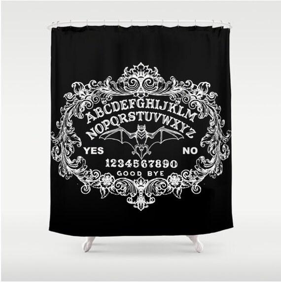 Ouija with bat Shower curtain