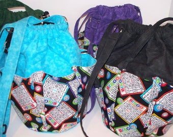 Bingo Quilted Purse,Quilted,Handcrafted Multi Pocket Purse,Adjustable Shoulder Cross Body Bag,Your Choice,RTS,Bingo Cards Numbers,Dauber Bag