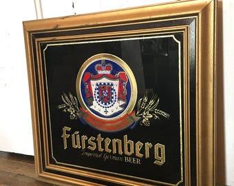 Vintage German Beer Bar Mirror
