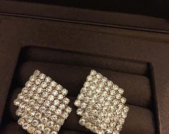 Crystal rhinestones earrings