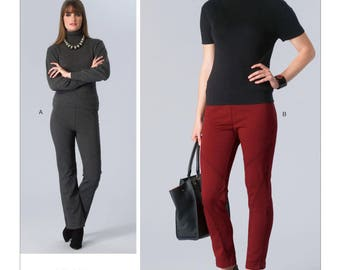 """Vogue Pattern V1411 - Today's Fit by SANDRA BETZINA - Misses' Seam-Detail Pants - All Sizes/Hip 34 1/2"""" - 57"""""""