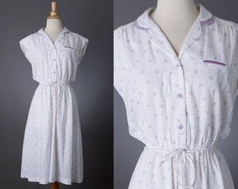 vintage 1970s floral day dress