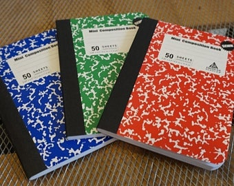 3 Mini Notebooks / Blank Journals