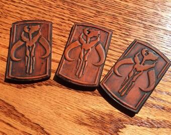 Mandalorian inspired Pin! Leather