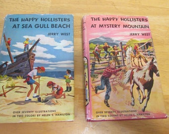The Happy Hollister's At Mystery Mountain and The Happy hollister's At Sea Gull Beach by Jerry West