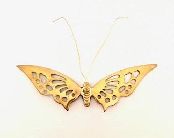 Brass Butterfly Wall Decal