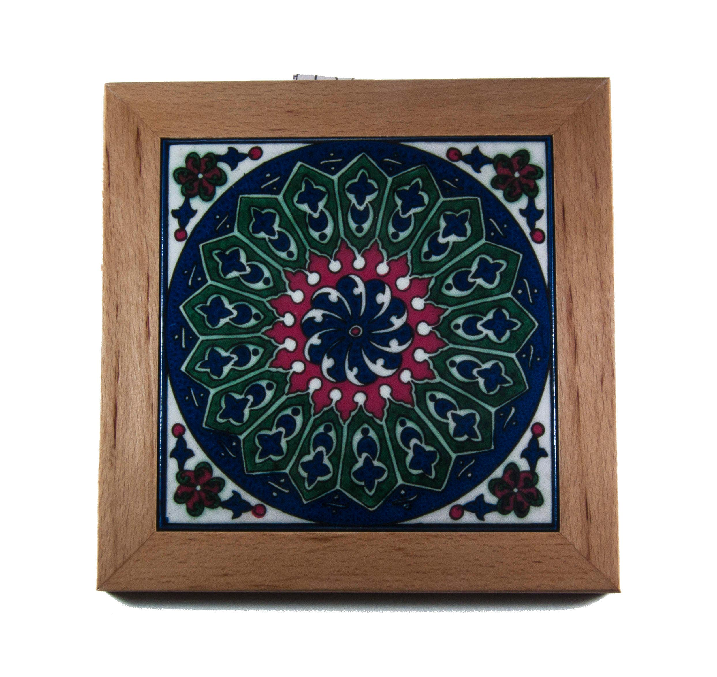 Armenian ceramic tile israel jerusalem home handpainted gift description armenian ceramic vintage pottery tile dailygadgetfo Images