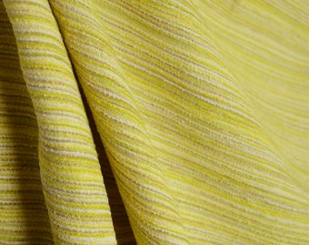 Always Lemon Lime Green Yellow Cream Grey Stria Stripe Texture Fabric