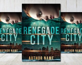 "Premade Digital eBook Book Cover Design ""Renegade City"" Romance Urban Fantasy YA Young New Adult Fiction"