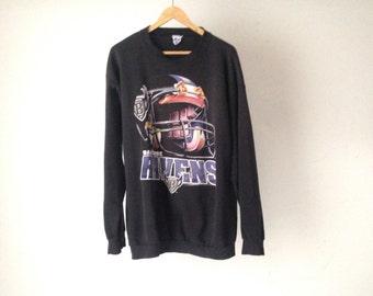 vintage BALTIMORE RAVENS nfl football vintage BLACK sweatshirt 90s vintage sweats