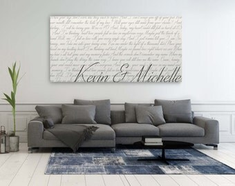 First Dance Canvas, Your Wedding Song Lyrics On Canvas, 1st Anniversary Gift, Personalized Anniversary Gift