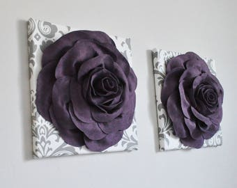 Superieur Plum Purple Wall Art Sugar Plum Wall Art Royal Wall Art Wool Home