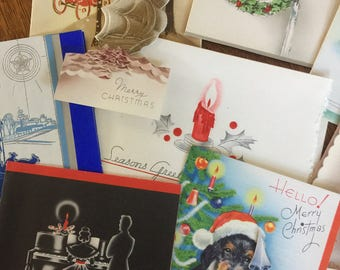 Vintage 1940's Greeting Cards Christmas