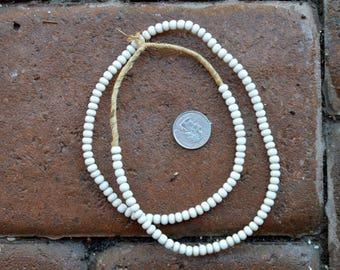 Padre Glass Beads: White 5x6mm
