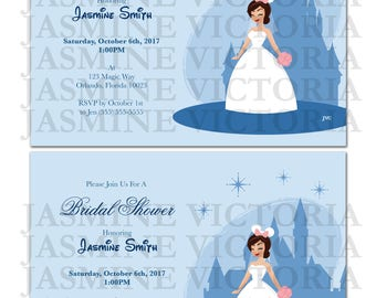 Build Your Own Mouse Eared Bridal Shower Invitation (Digital File)