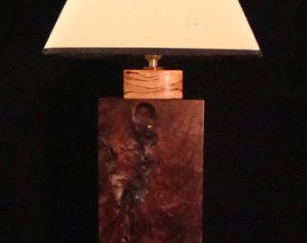 Black Walnut and Spalted Maple Lamp