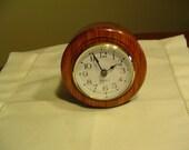 Desk Clock, Bubinga Wood With Quartz Movement