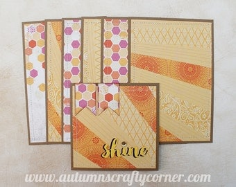 Shine - Premade Scrapbook Page Sewn Photo Mat Set