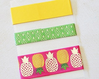 Pineapples - Brights - Washi Tape SAMPLE - 24 inches
