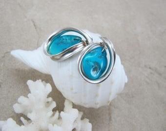 Sleeping Beauty Turquoise Earrings - Sterling Silver