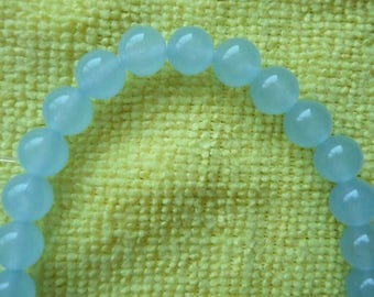 Beads, Light Brazilian Aquamarine, Gemstone, 8mm, Round, Pkg Of 12